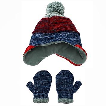 Amazon.com  Nolan Infant Boys Blue Marl Knit Stripe Peruvian Warm ... b65e8cd5a92
