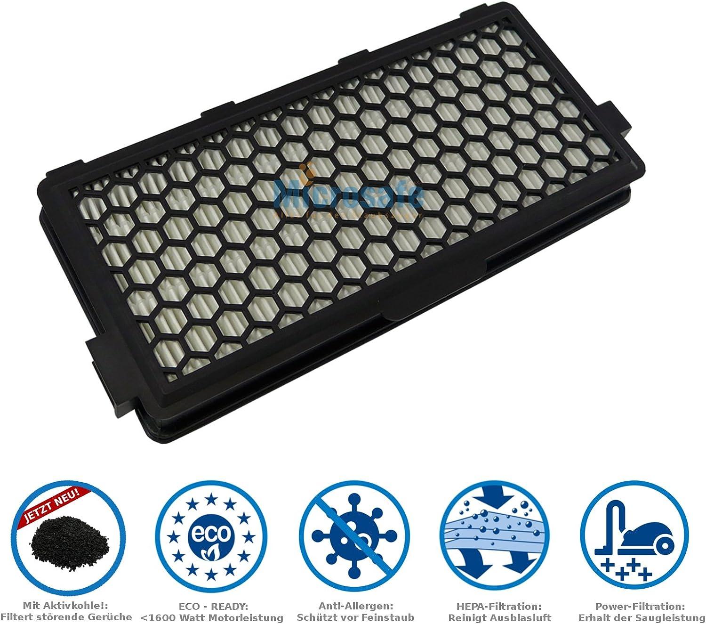Active AirClean Filtro SF-AA 50 para Miele Compact C2 (SF-AA 50, SF-AP 50, SF-HA 50, SF-AH 50, 7226150, 722617) de MicroSafe