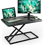 Standing Desk Converter Height Adjustable Sit to Stand Desktop Desk Gas Spring Riser, Perfect Workstation 29.3 inches…