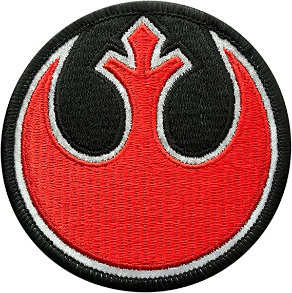 Black Squadron Badge logo Embroidered Iron Sew on Patch #1510