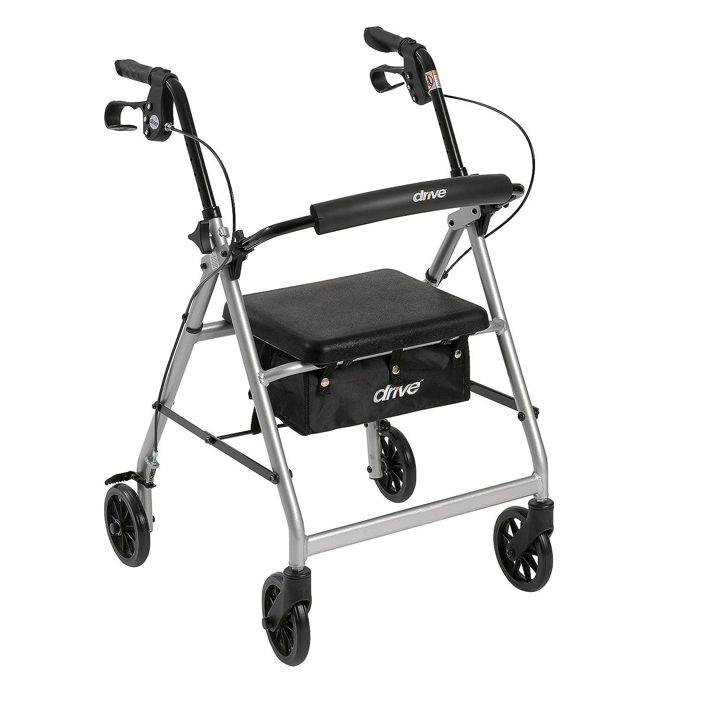 Conducción Medicinal Aluminio Andador Rollator Walker Plegable Up ...