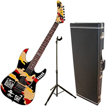 Esp Ltd gl-200 K Kami 1 Graphic carcasa rígida de guitarra ...