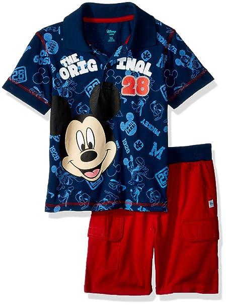 Amazon.com: Disney bebé niños Mickey polo corto de 2 piezas ...