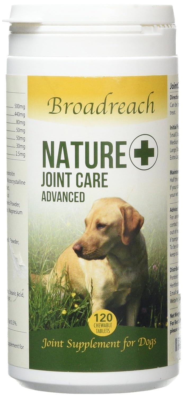 Chien Joint Supplément - Tout Naturel Ingrédients - Vétérinaire Formulation - avec Glucosamine, Chondroïtine et Curcuma - 5 - 40kgs Neuf (120 Comprimés) taille Broadreach pet Supplies Ltd