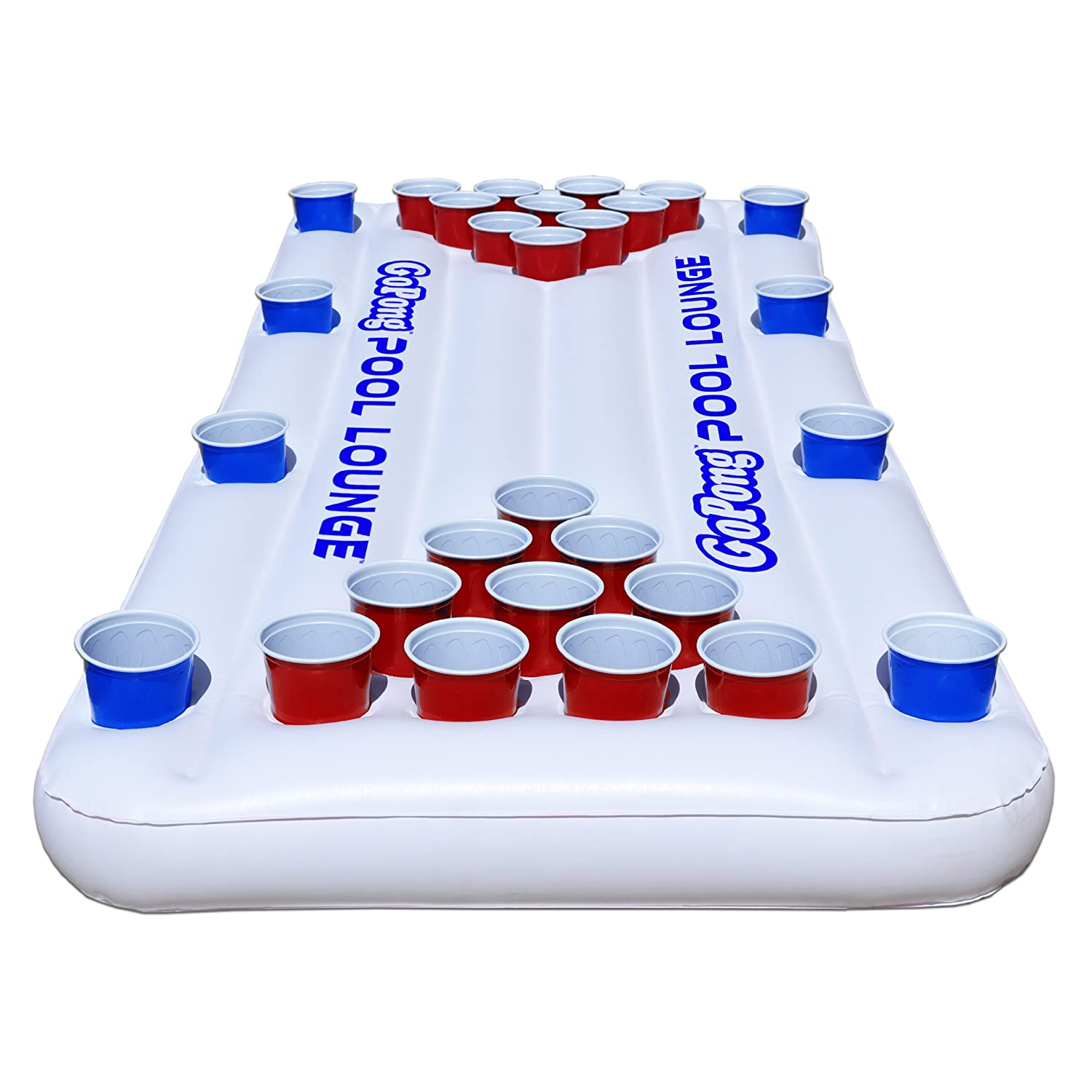 Hockey beer pong table - Gopong Pool Lounge Beer Pong Inflatable With Social Floating White