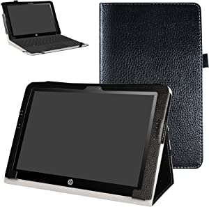 "Mama Mouth PU Leather Folio 2-Folding Stand Case Cover for 10.1"" HP X2 10 10-p010nr 10-p020nr 10-p092ms Tablet(Only fit HP X2 10 10-p000nr Series,not fit HP Pavilion x2 10 10-n000nr Series),Black"