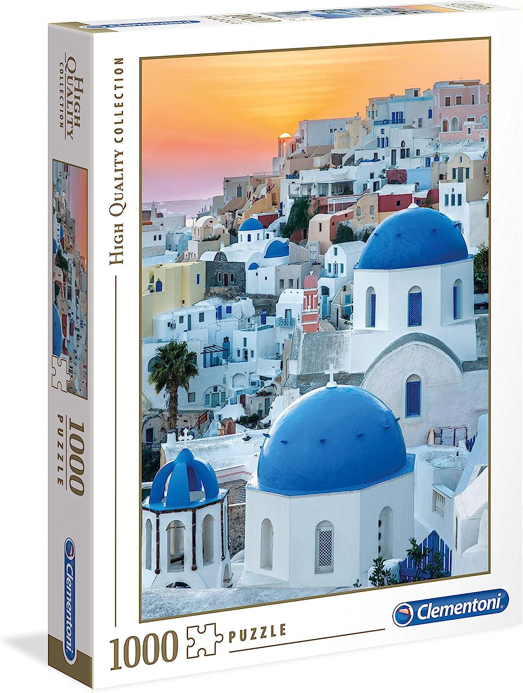 Clementoni- Puzzle 1000 Piezas Santorini, Multicolor (39480.7): Amazon.es: Juguetes y juegos