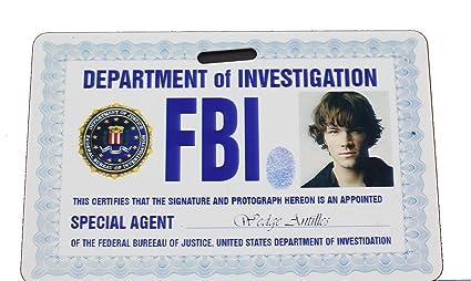 Supernatural com Fbi Products Badge Office Id Sam Amazon