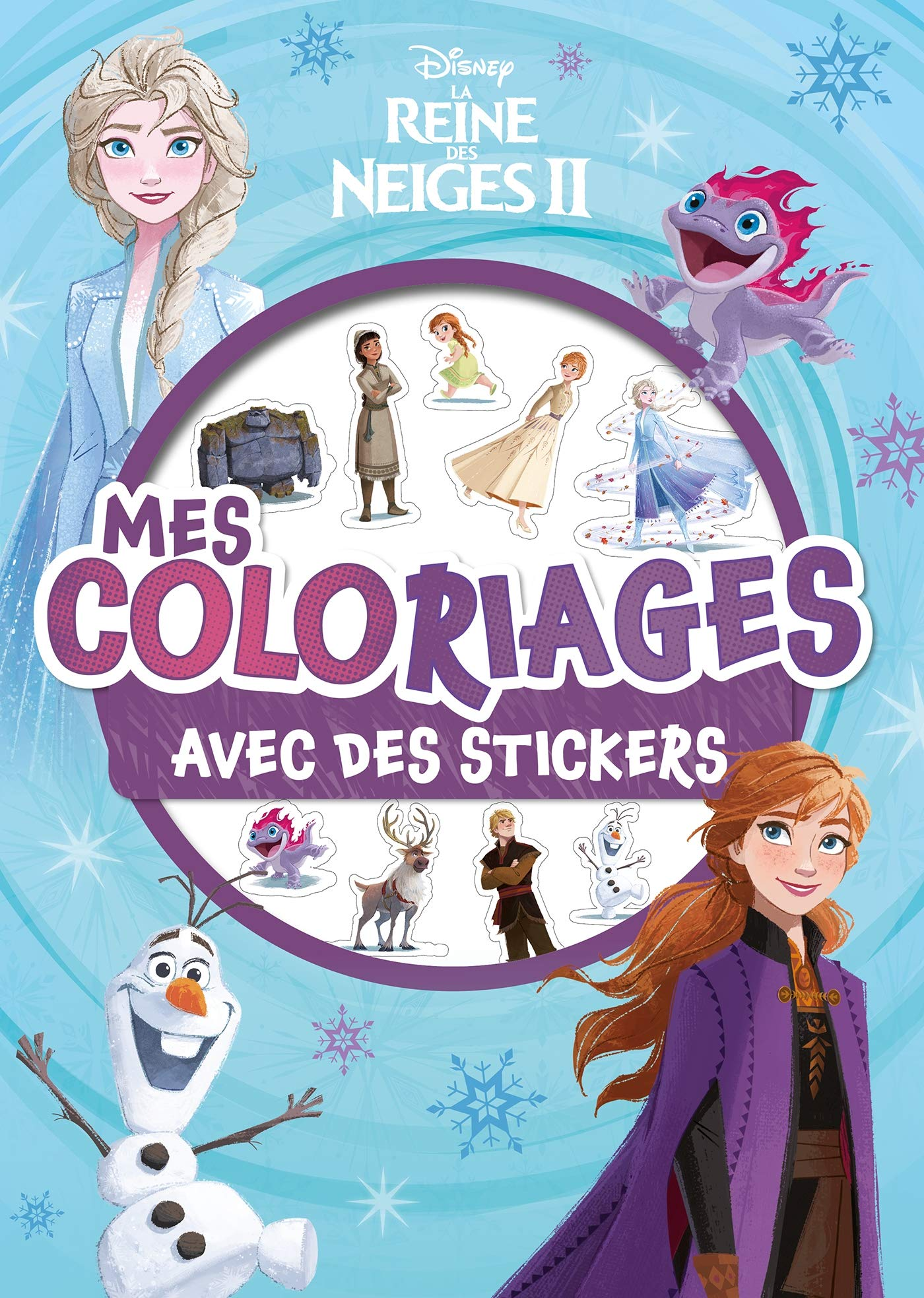 La Reine Des Neiges 2 Mes Coloriages Avec Stickers Disney Amazon Fr Disney Livres