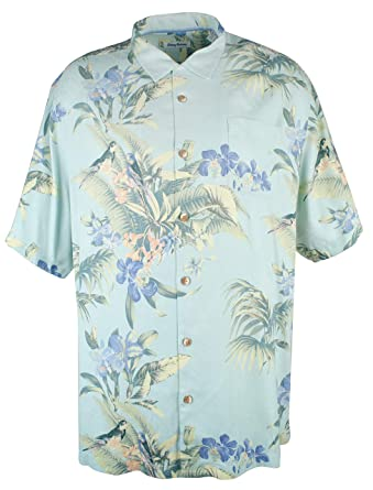 8a6160ed76 Tommy Bahama Men s Big and Tall Bird Dream Silk Camp Shirt-DA-3LT at Amazon  Men s Clothing store