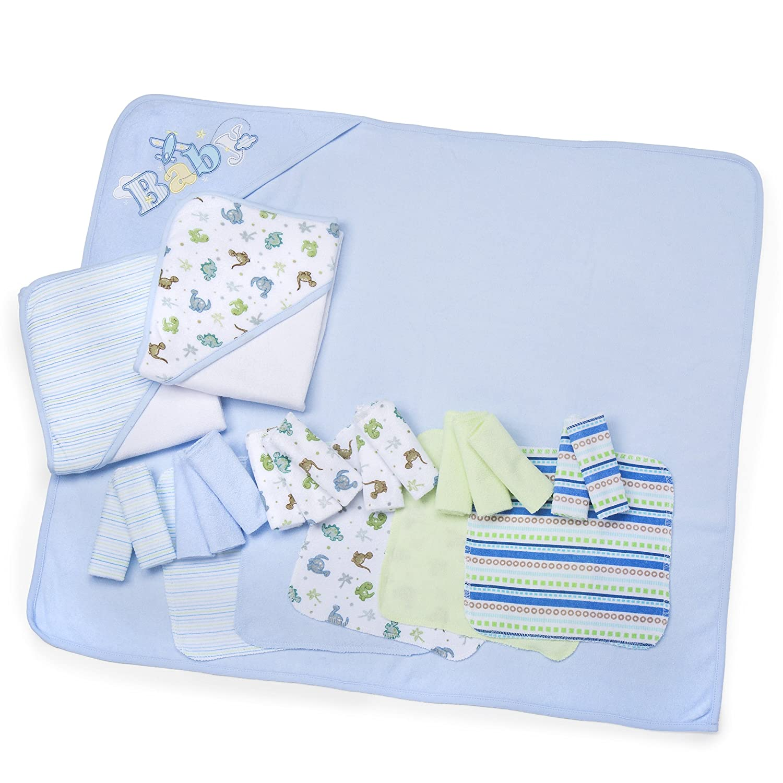 Amazon.com : Spasilk 23-Piece Essential Baby Bath Gift Set, Blue : Baby