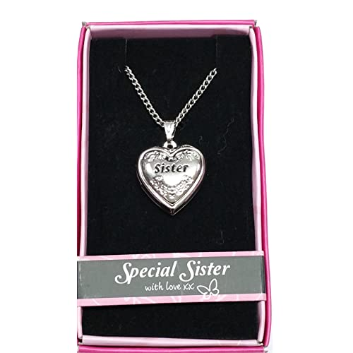 Sister Love Locket Gift Boxed Pendant Birthday Christmas Any Occasion