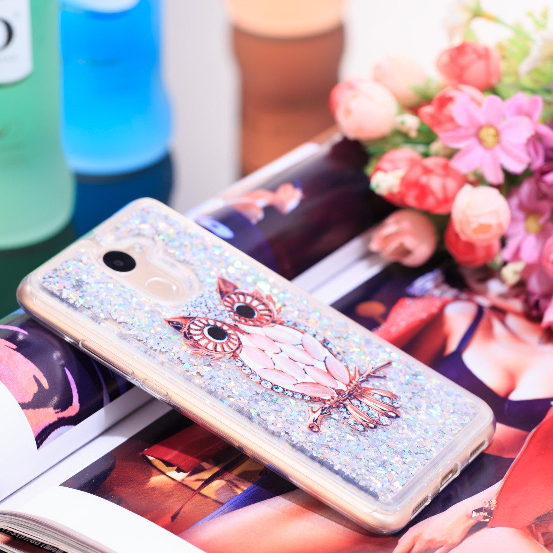 MSOSA Funda para Huawei Y7 2017//Y7 Prime 2017//Enjoy 7 Plus Silicona Purpurina Carcasa TPU Cristal Bumper Funda Paras Case Cover para Huawei Y7 2017//Y7 Prime 2017//Enjoy 7 Plus/_Campanas de Viento