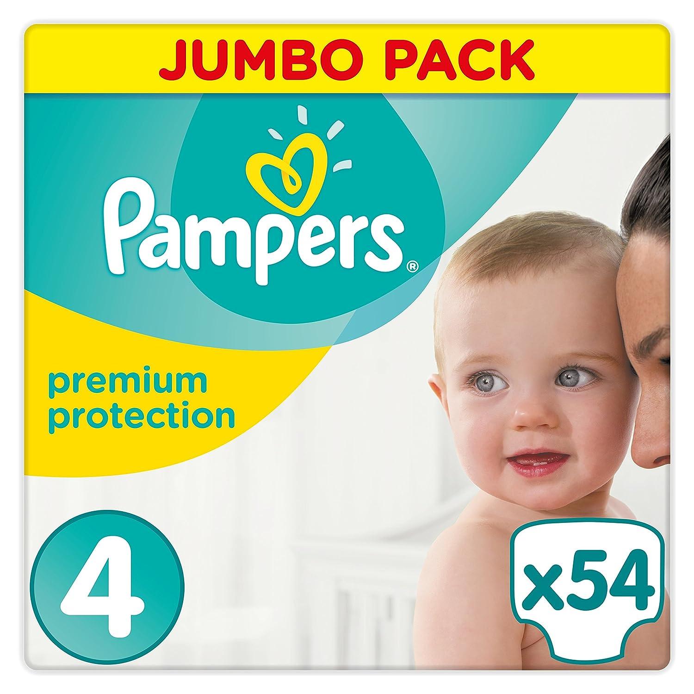 Pampers Premium Protection Pack jumbo de 54 couches pour bébé Taille 4(9-14 kg) 4015400849247
