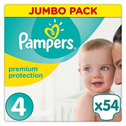 PAMPERS Pañales Premium Protection, talla 4 Maxi (9 – 14 kg), Jumbo