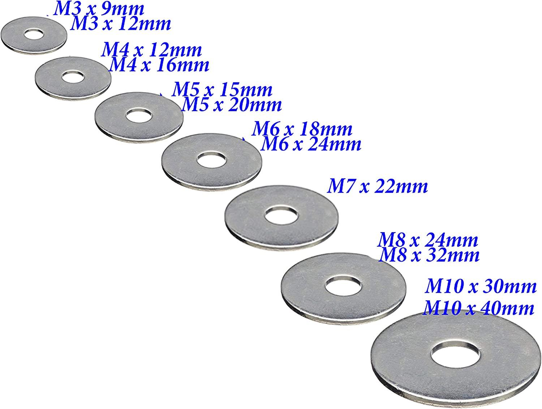 M4 arandelas planas de acero inoxidable A2 M8 M10 M6 M7 M5 Penny Repair M3