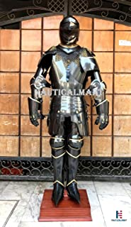 NauticalMart Black Knight Armour Full Suit of Armor Medieval Times Wearable Body Armor