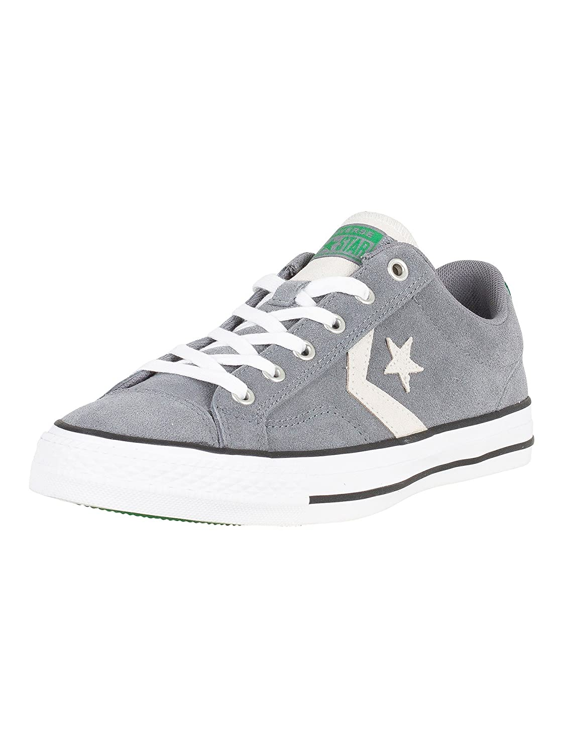 Converse Star Player Ox, Zapatillas de Deporte Unisex Adulto 44 EU|Multicolor (Cool Grey/White/Green 039)