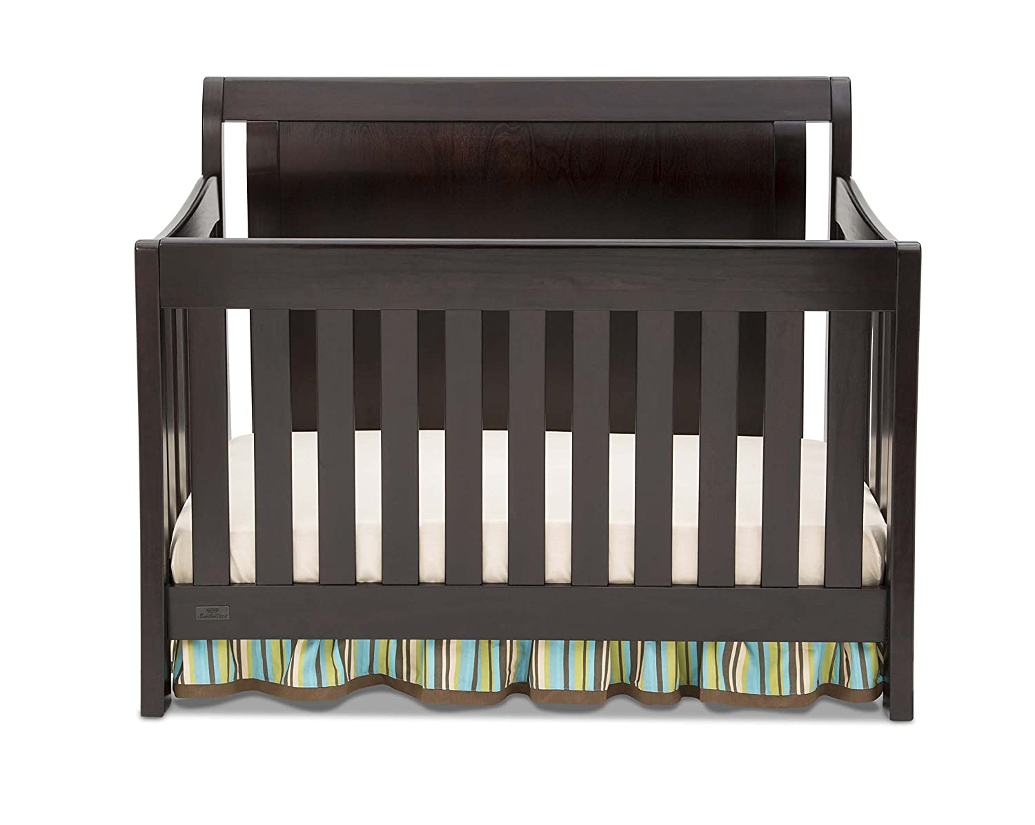 amazon com simmons kids slumbertime madisson crib n more black
