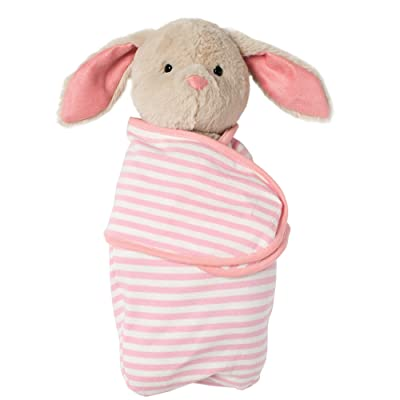 "Manhattan Toy Baby Bunny Stuffed Animal with Swaddle Blanket, 11"": Toys & Games"