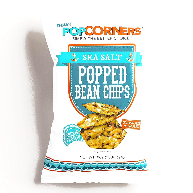 Popcorners Sea Salt Popped Bean Chips 6 oz each (5 Items Per ...
