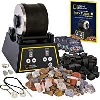 NATIONAL GEOGRAPHIC Professional Rock Tumbler Kit- Advanced features include Shutoff Timer and Speed Control - 2lb…