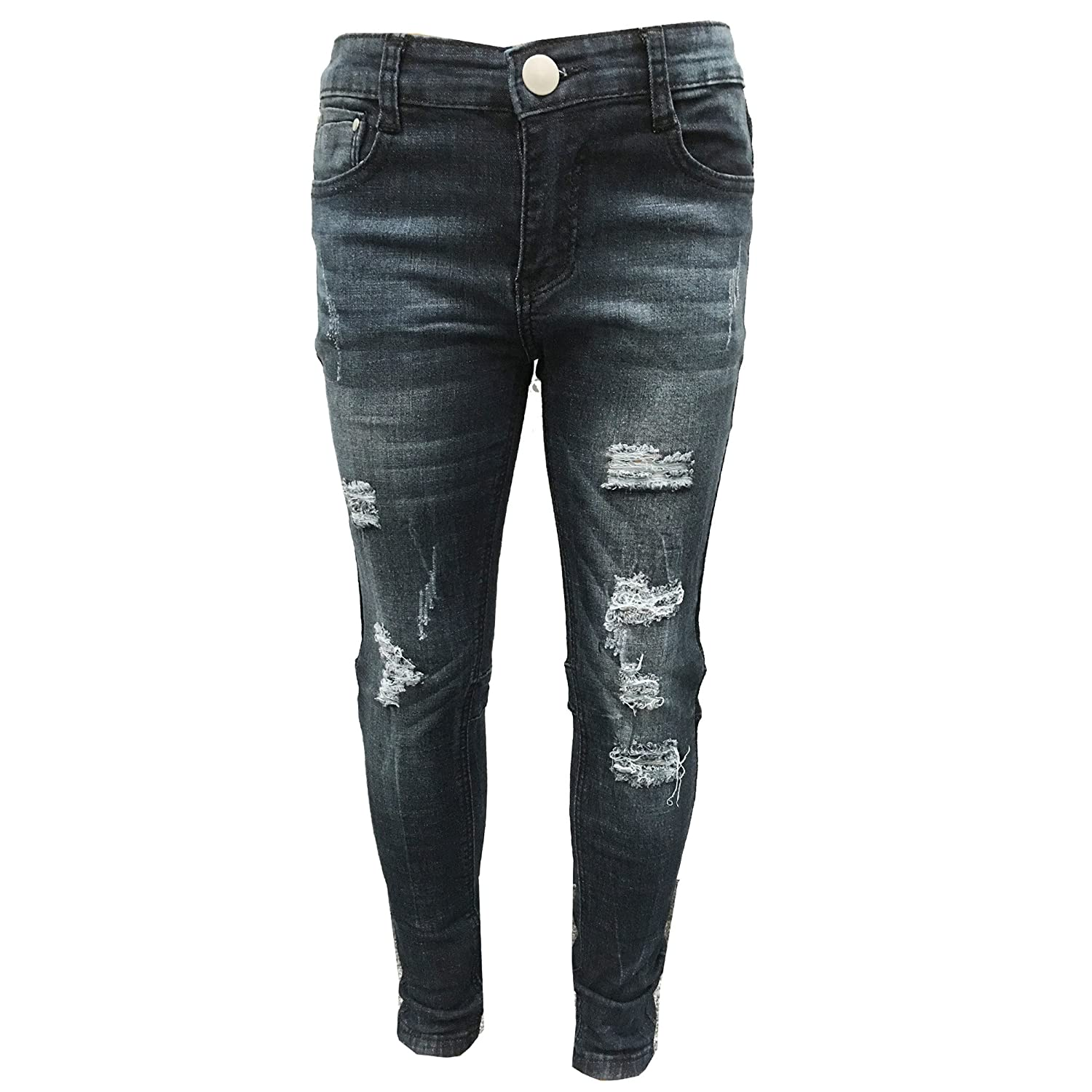 Farstowe Brand New Girls Stretchy Jeans Kids Jeggings Girls Ripped Skinny Pants Kids Jeans 5 6 7 8 9 10 11 12 Years