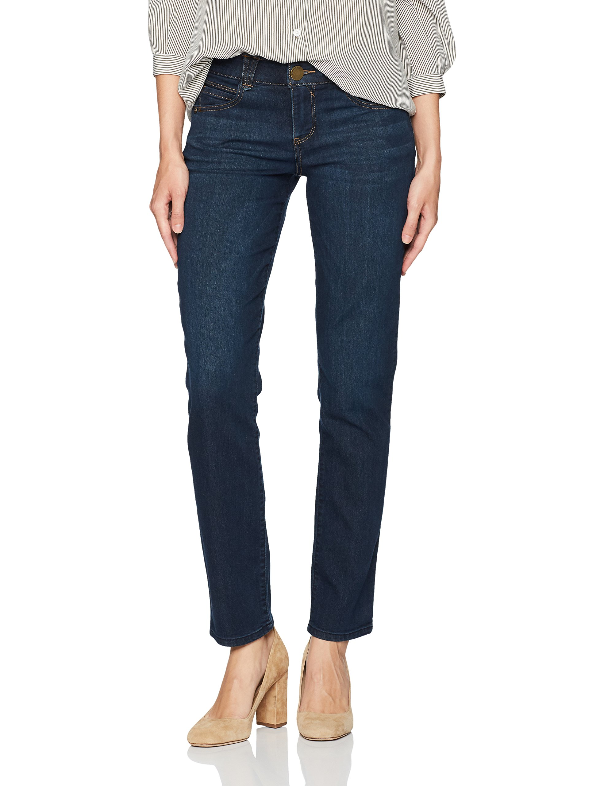 Democracy Women's Ab Solution Straight Leg Jean, Indigo, 12