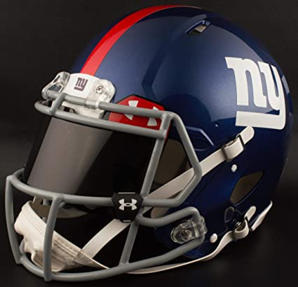 Image Unavailable. Image not available for. Color  Riddell Custom New York  Giants Full Size NFL Speed Football Helmet bfa05e6c6