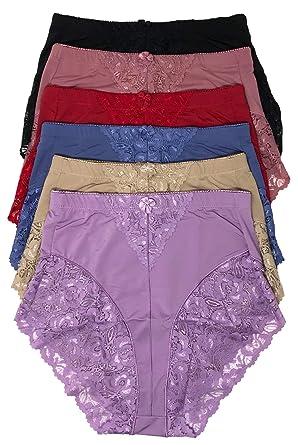 682e83cb7aba Peachy Panty Women's 6 Pack High Waist Cool Feel Brief Underwear Panties  S-5xl (