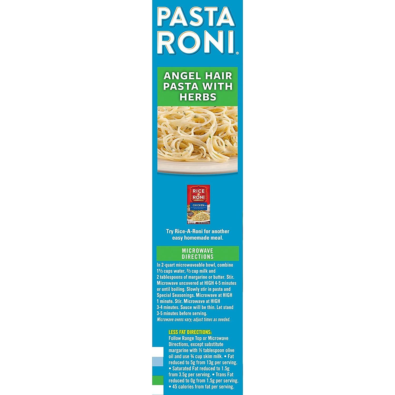 Amazon Com Pasta Roni Angel Hair Pasta With Herbs 4 8 Oz Prime Pantry