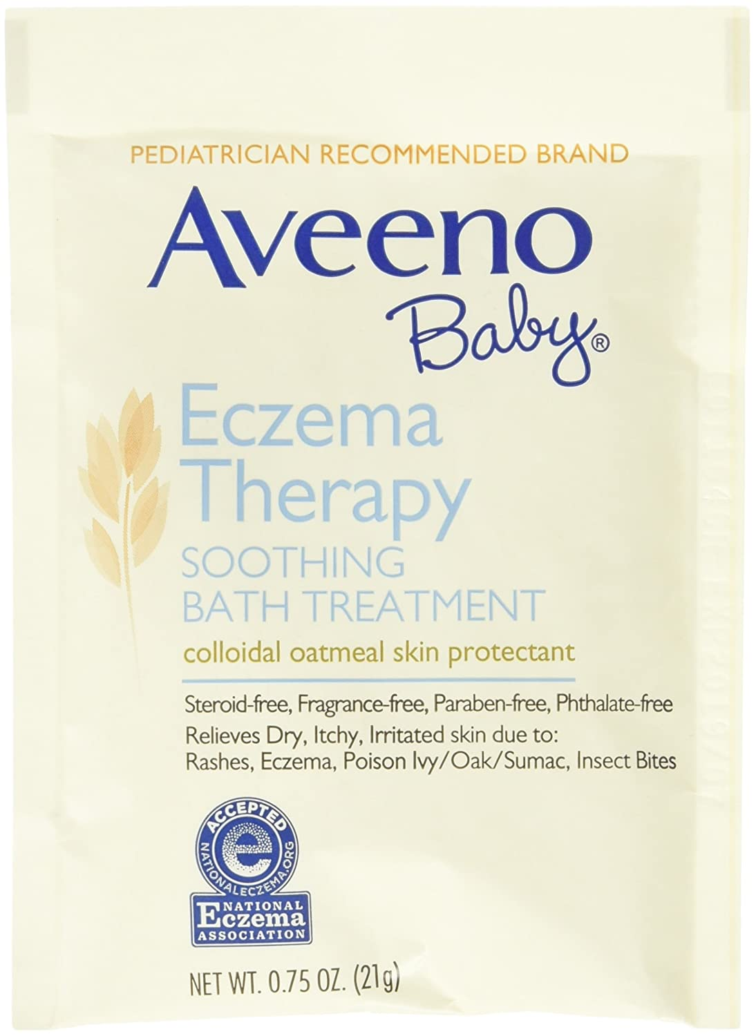 Aveeno Soothing Baby Bath Treatment, Single Use Packets - 5 ea J&J598755