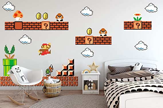Nintendo Wall Graphics Super Mario Bros Nintendo Wall Decals Amazon Com