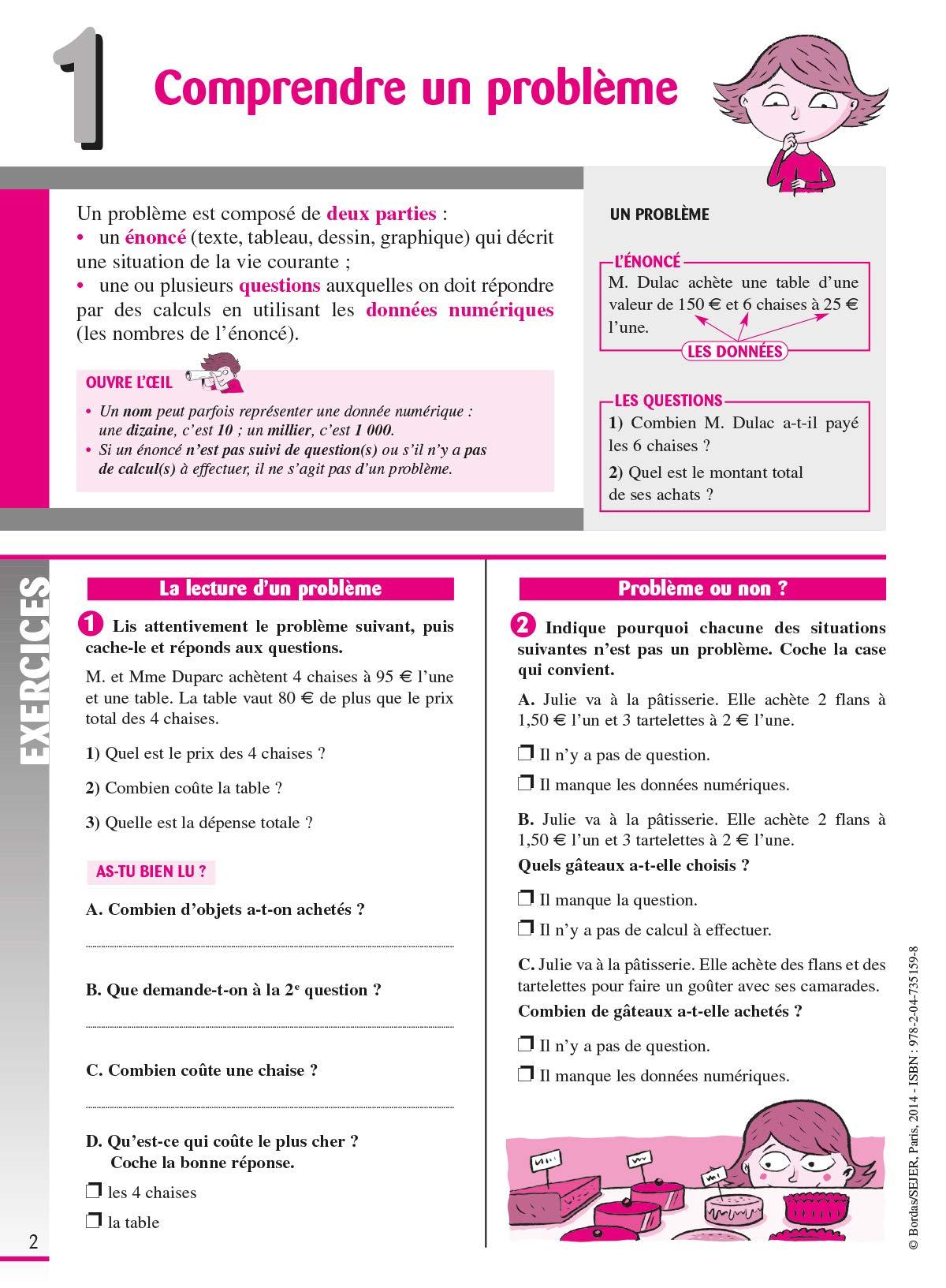 Amazon Fr Cahier De Problemes De Maths Cm1 Collectif Livres
