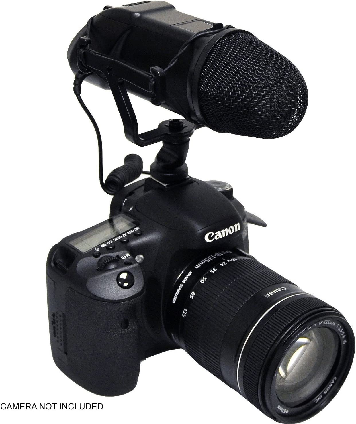 for Canon EOS R w//Dead Cat Wind Muff for High End Systems Stereo//NRS Professional Microphone DSLR and Video