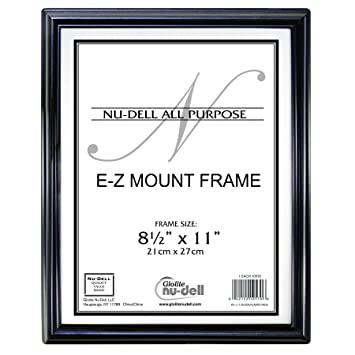 85 x 11 ez mount economy document frame plastic