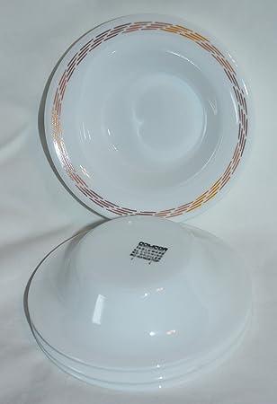 Vintage Corning COMCOR Stripe Tableware Berry Condiment Glass Bowls Set of 4 & Amazon.com | Vintage Corning COMCOR Stripe Tableware Berry Condiment ...