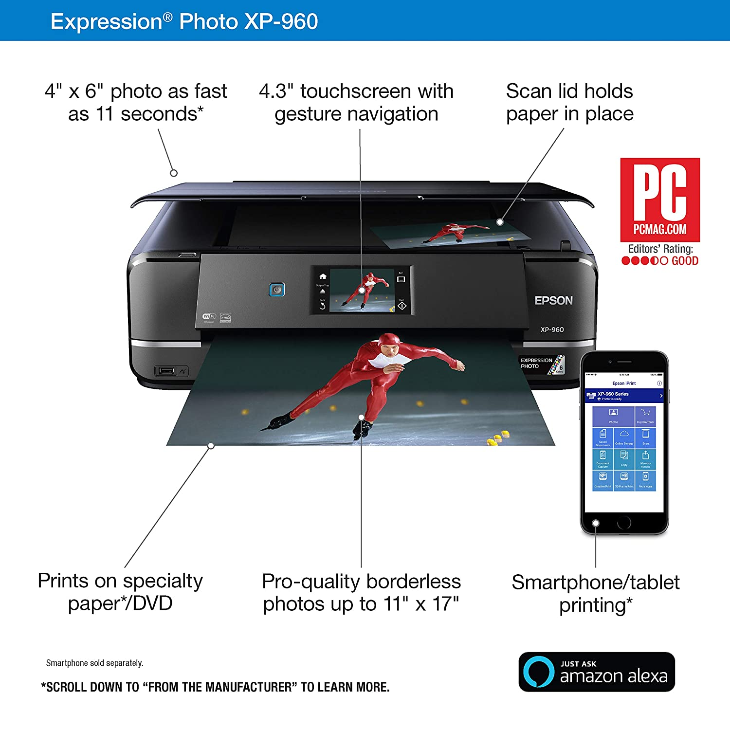 Amazon.com: Epson Expression Photo XP-960 Impresora ...