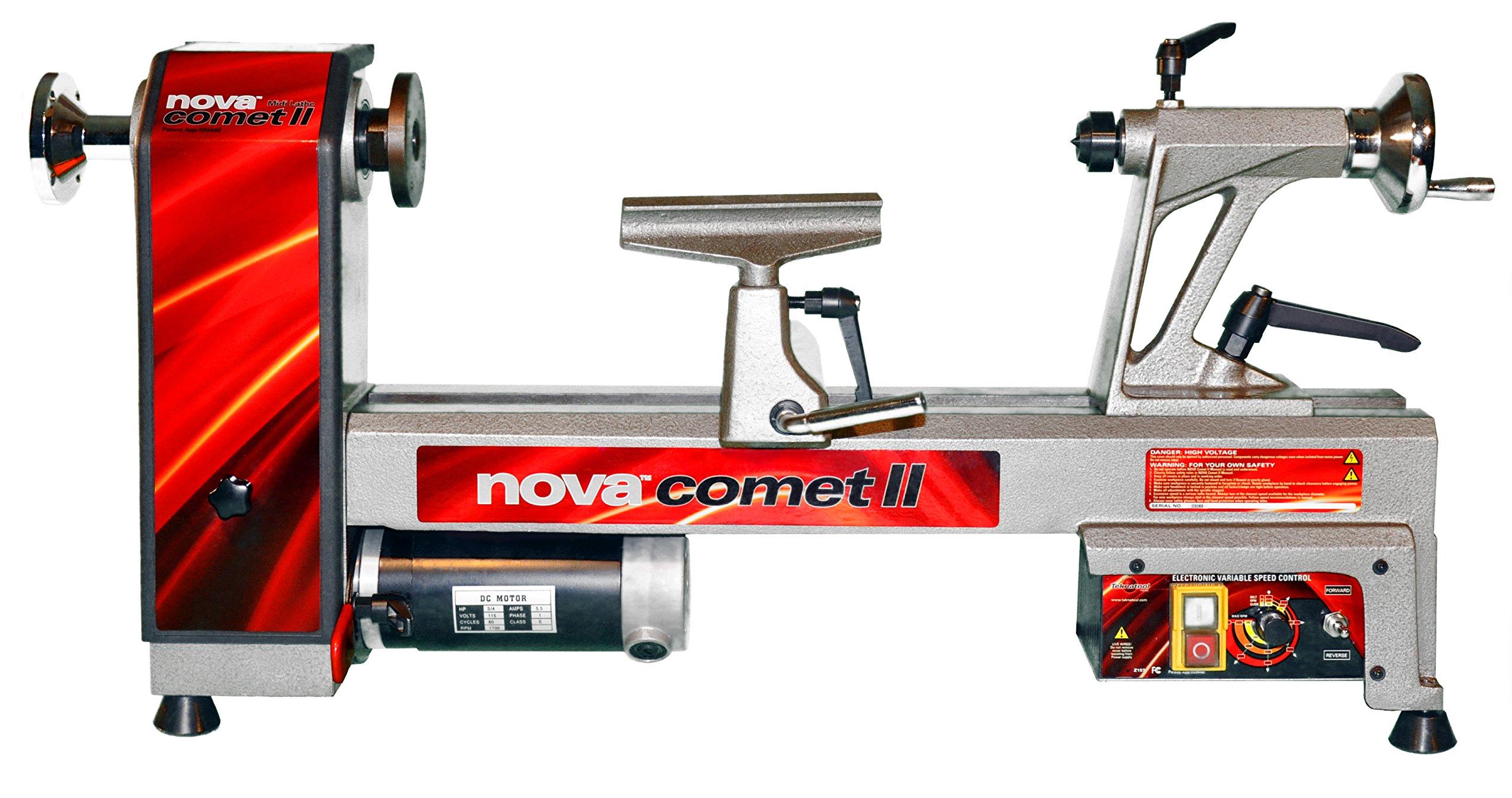 NOVA 46300 Comet II Variable Speed Mini Lathe 12-Inch x 16 1/2-Inch by Nova
