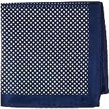 Van Heusen Men's Pocket Square 4 Way Pattern, Navy, One Size