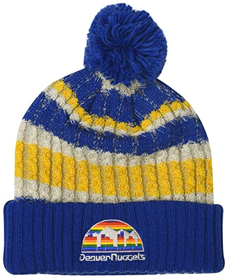 ce21dee4f19 Image Unavailable. Image not available for. Color  Mitchell   Ness Denver  Nuggets Irish Sweater Knit Hat
