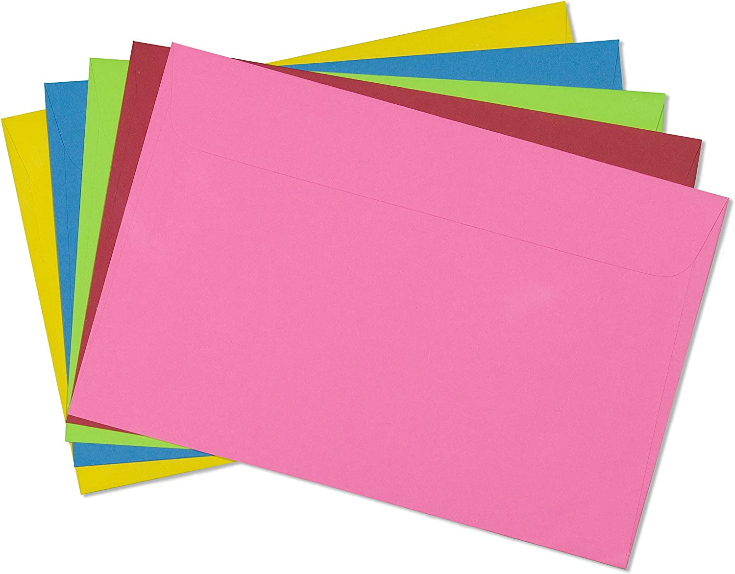 9x12 Envelope Color Blank Open Side Envelopes-15 Pack (Mixed Pack) : Office Products