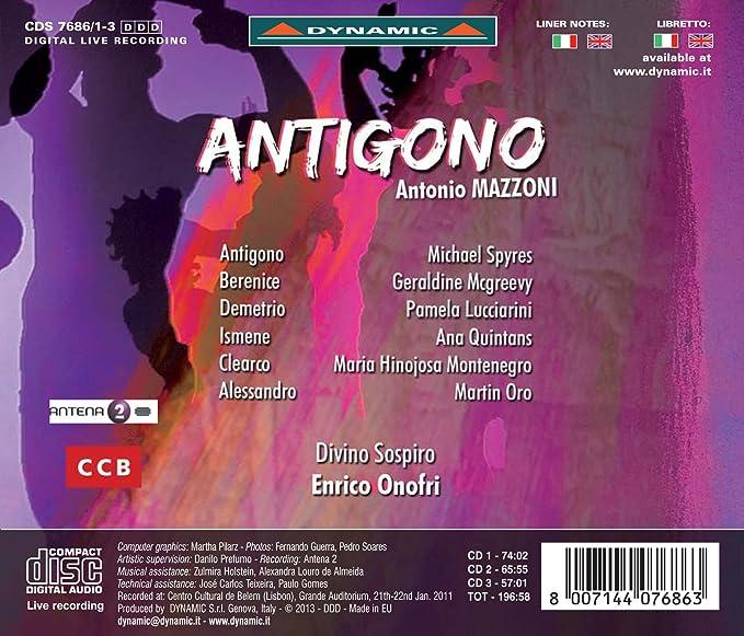 Mazzoni: Antigono [Michael Spyres, Pamela Lucciarini