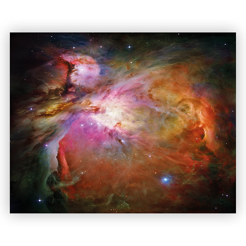 Coloured Nebula Space Acrylic Glass Wall Art -70cm x 56cm LagunaProject