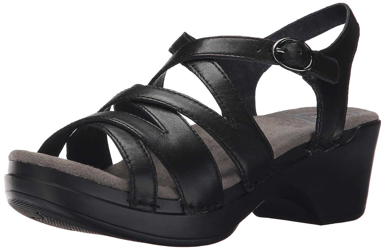 Dansko Women's Stevie Black Full Grain Wedge Sandal B01095UV0Y 39 EU/8.5-9 M US|Black Full Grain