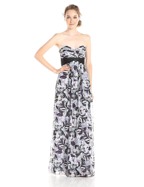 Amazon.com: BCBGMax Azria Women\'s Kai Printed Maxi Dress, Lilac Ash ...