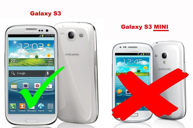5462211e7e9 Premium - Book Style Funda Estilo Cartera para Samsung Galaxy S3 y S3 Neo  (GT-I9300/GT-I9301) óxido de en Negro: Amazon.es: Electrónica