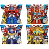 "Playskool Heroes 4"" G1 Transformers Rescue Bots Grab-Pack Limited Edition Action Figures - Bumblebee, Chase Police-Bot…"