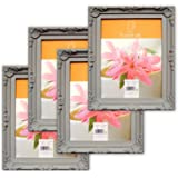 SHABBY CHIC Picture Photo Frames - [Set of 4] GREY