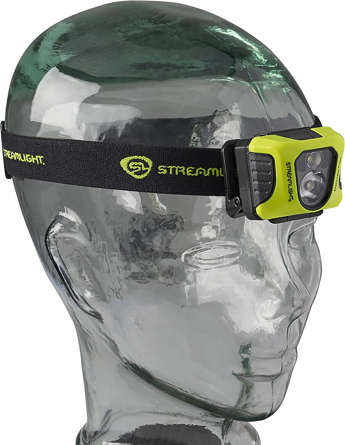 Yellow Streamlight 61435 Enduro Pro USB Rechargeable Multi-Function Head Lamp with Elastic Head Strap